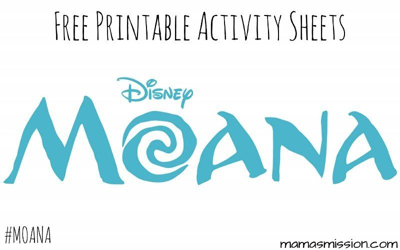 Free Printable Moana Activity Sheets Are Now Available For