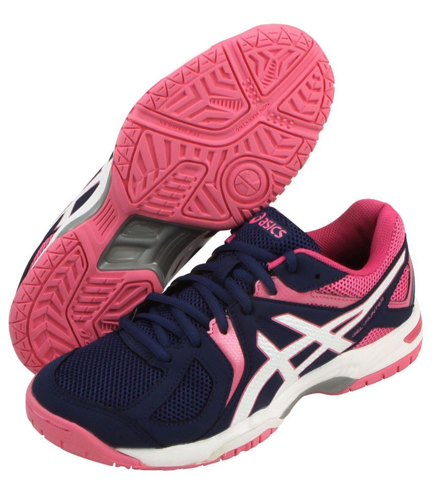 Asics Gel Hunter 3 Women S Badminton Shoes Running Indoor Gym Pink R557y 4901 Asics Asics Running Shoes Platform Tennis Shoes Volleyball Shoes