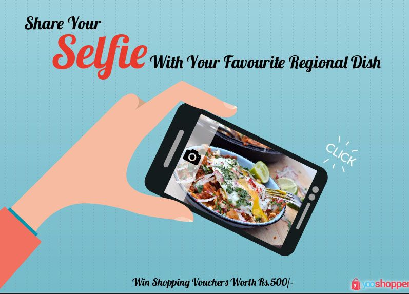 Contest to Click Selfie and Win Shopping Vouchers Worth Rs