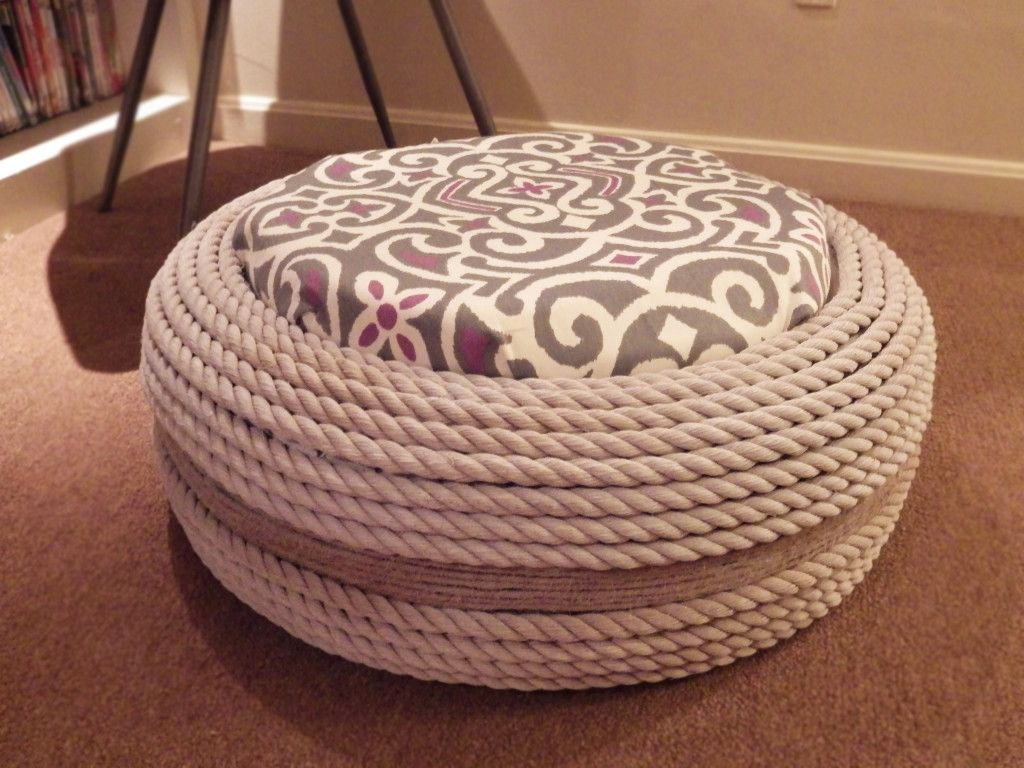 a great project as summer slows down this versatile diy rope ottoman will be a