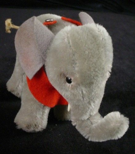 Vintage Steiff Jumbo Elephant W Button Stuffed Animal Toy From Old