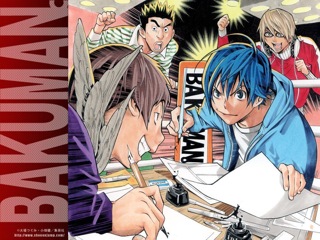 bakuman_1024_768no2 Anime, Iphone wallpaper, Facebook