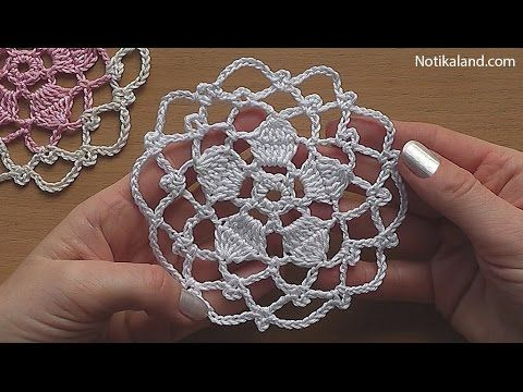 Crochet Crocheted motive#1 Very easy Tutorial Part 1 - YouTube ...