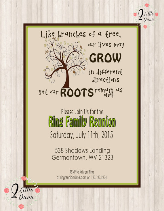 Family Reunion Invite Swirly Tree Printable Digital Invitation Family Reunion Invitations Templates Family Reunion Invitations Reunion Invitations