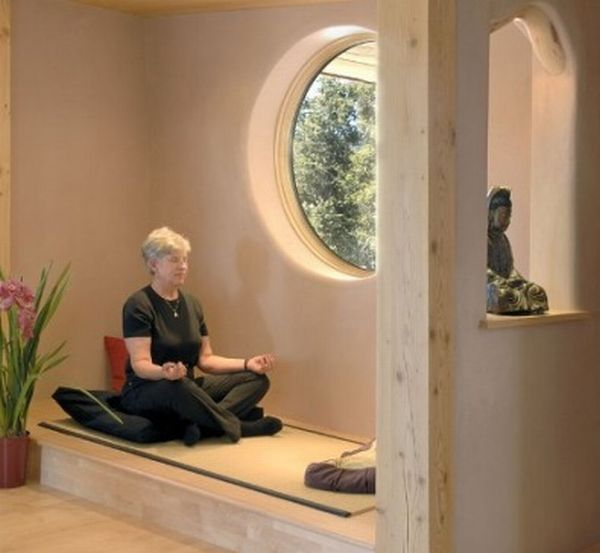 Creating A Meditation Room like the raised part with small wall cutout (bedroom meditation