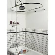 Freestanding Bath With Shower Over Clawfoot Tub Shower Curtain