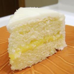 Lemon Cake with Lemon Filling and Lemon Butter Frosting