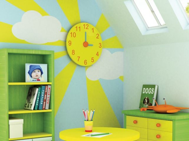 Peinture chambre enfant mathys chambre/salle de jeux Pinterest