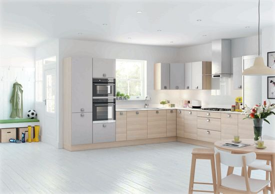 Stunning Light Ash With Light Grey Silk For A Truly Scandinavian Look Thats Right On Trend Modern Kitchen Free Kitchen Design Kitchen Design