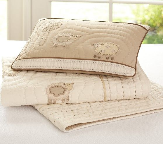 Sweet Lambie Small Quilted Sham Pottery Barn Kids
