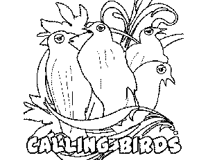 4 Calling Birds Bird Coloring Pages Coloring Pages Birds