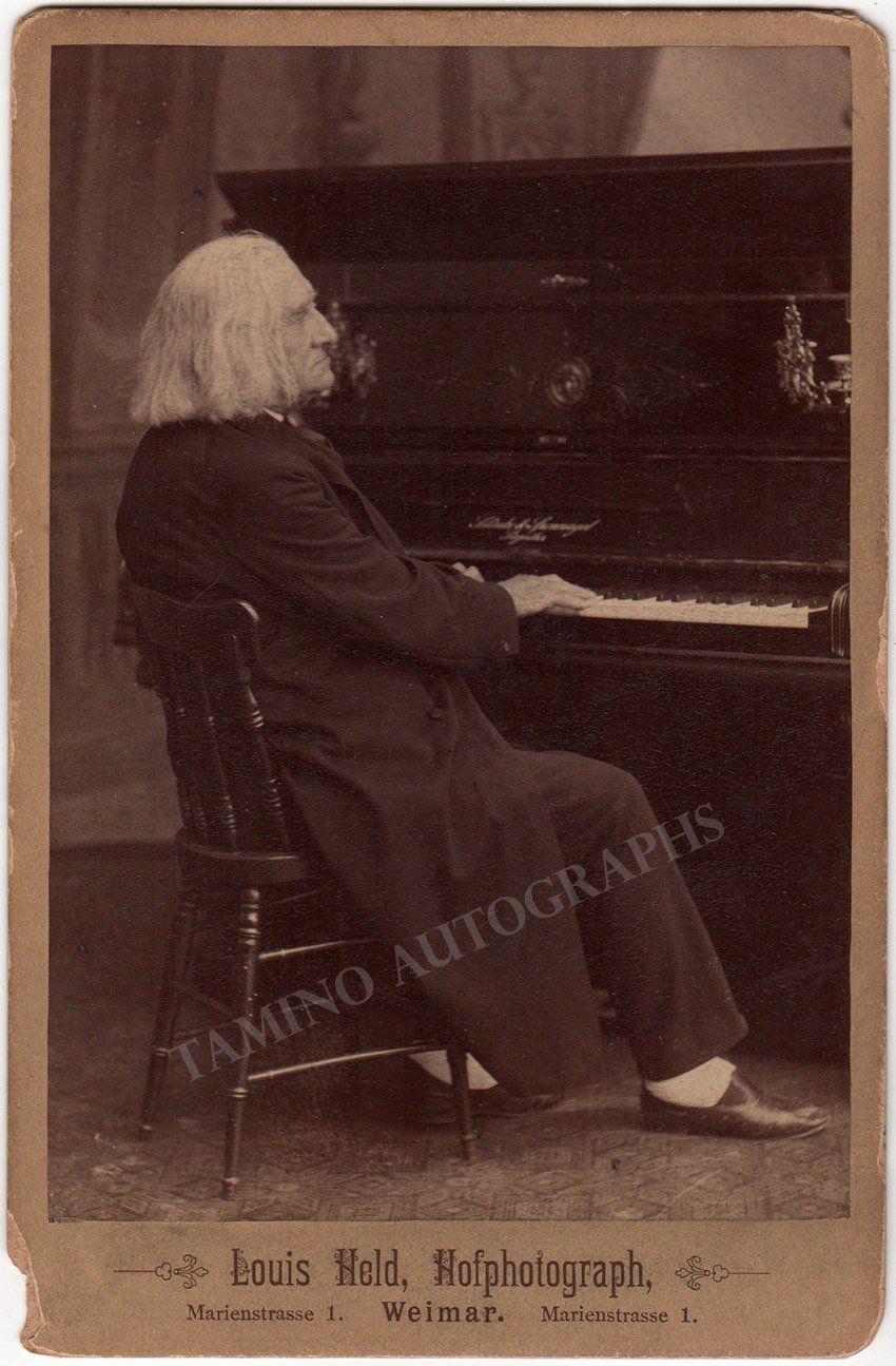 Liszt Franz Cabinet Photo