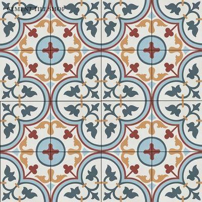 Floret Ii Cement Tile Shop Cement Tile Encaustic Cement Tile