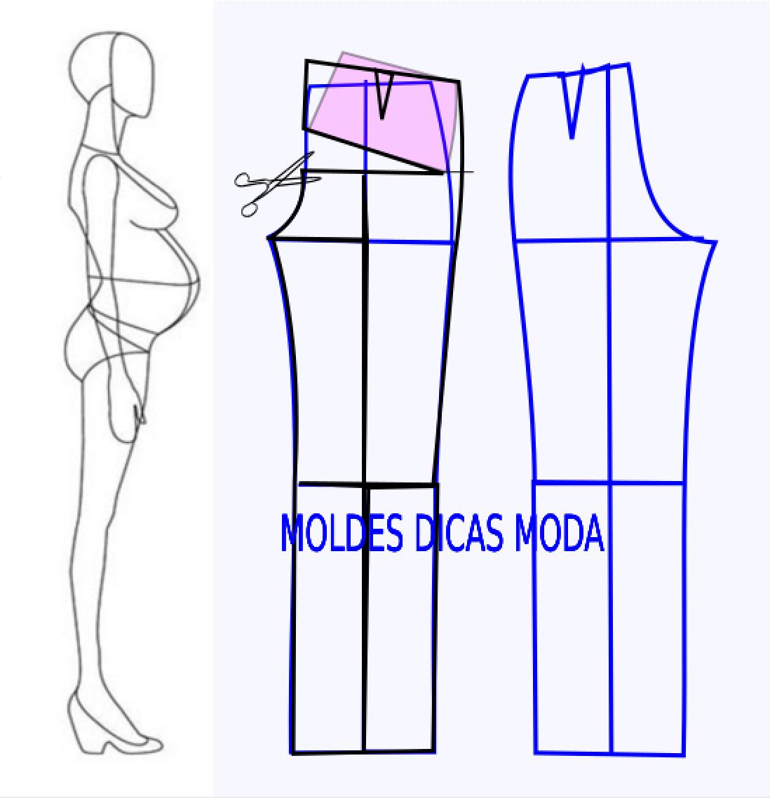 Detalhes e design de calças | Costura, Molde y Patrones