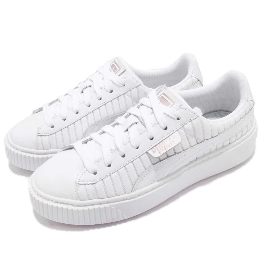 official photos 2637a 9c418 Puma Basket Platform EP Wns En Pointe White Women Casual ...