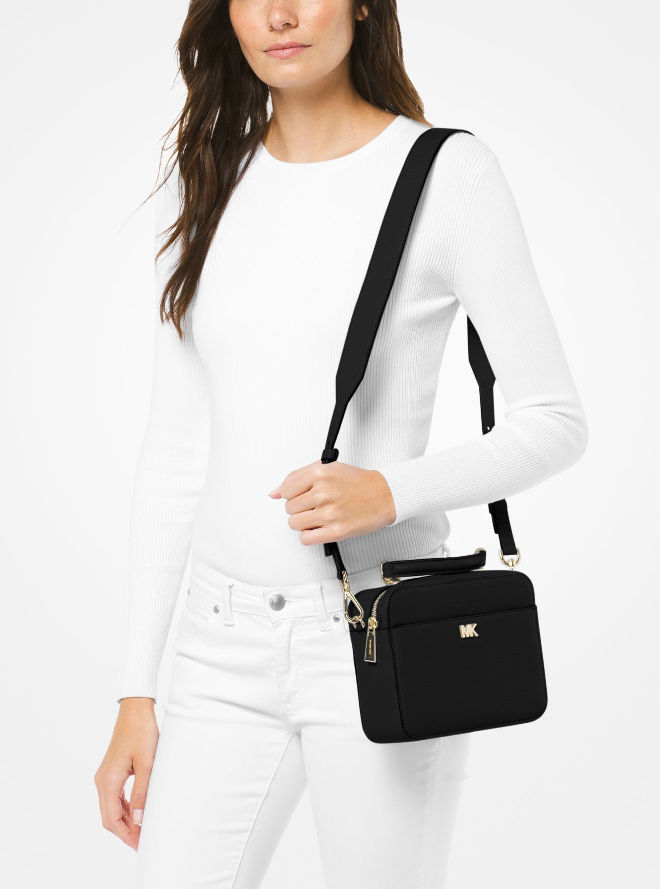 c3a871cdebbeef Mott Mini Pebbled Leather Crossbody Pebbled Leather, Leather Crossbody, Michael  Kors
