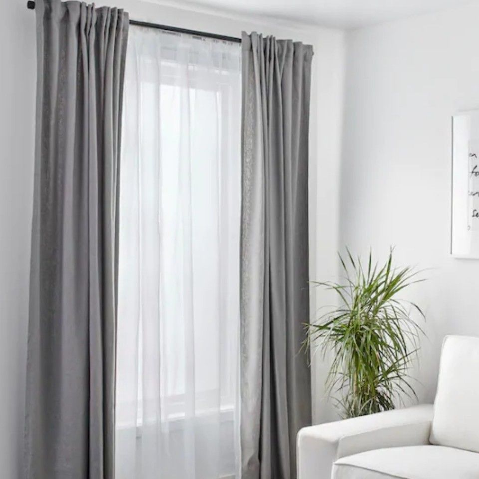 Gray Curtains Replacing Purple Curtains Curtains With Blinds