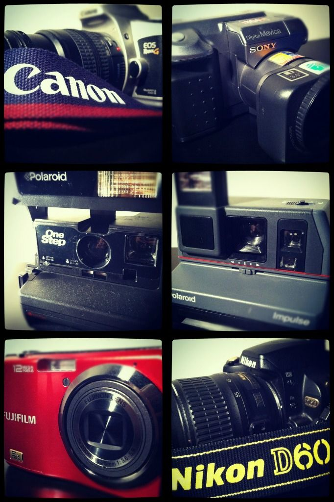 my current camera collection...it will grow as I grow :)
