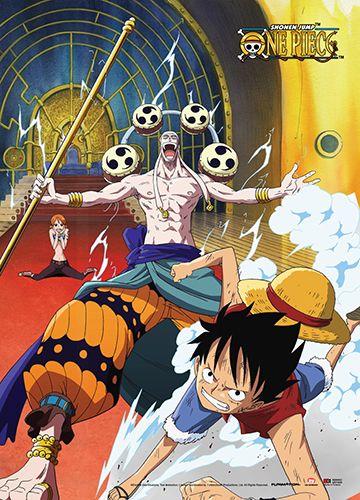 One Piece Wall Scroll - Luffy & Nami VS Enel | One piece anime, Watch ...
