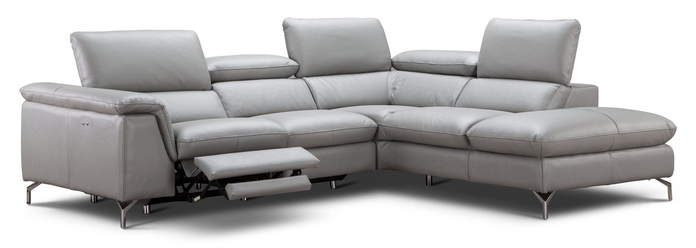 Dupont Leather 105 8 Reclining Sectional Italian Leather