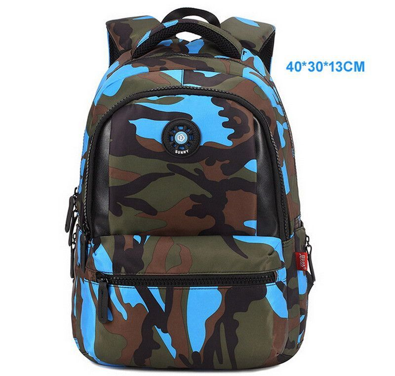 Top Brand Orthopedic Camouflage Children School Bags Backpack ...