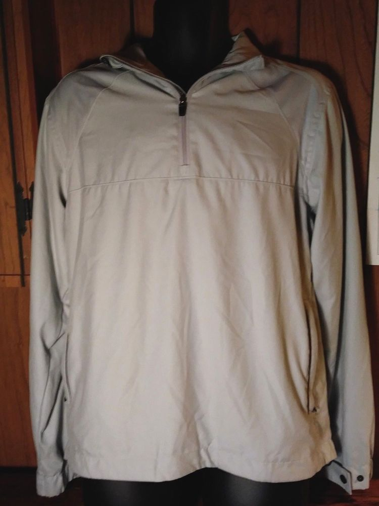 Callaway Golf Jacket Mens Off White Windbreaker 14 Zip X Series
