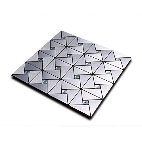 Metal Decorative Tiles $3999  Yazi 12 X 12 Peel Stick Metal Decorative Wall Tile Tick