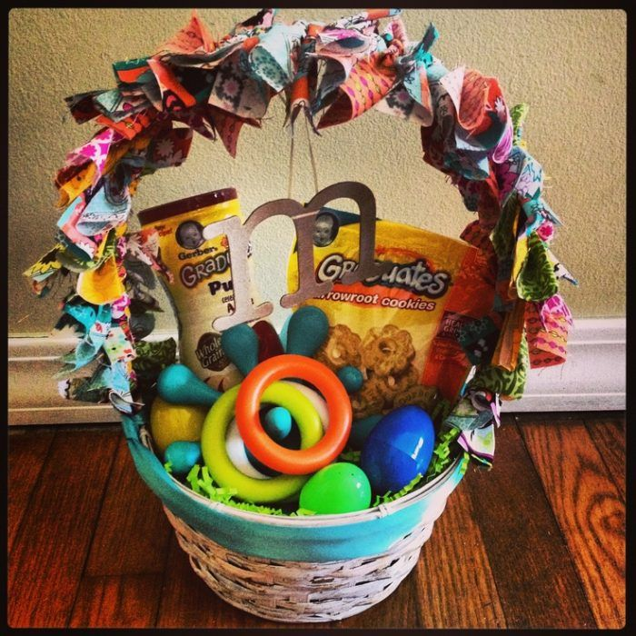 Easter basket ideas for babies happy easter pinterest basket easter basket ideas for babies negle Images