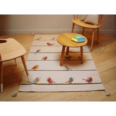 Le tapis enfant Kilim petits oiseaux de Art for kids a été