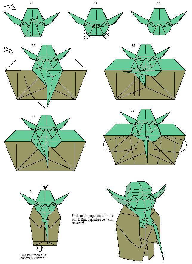 Origami Yoda Instructions How To Origami Ideas Pinterest