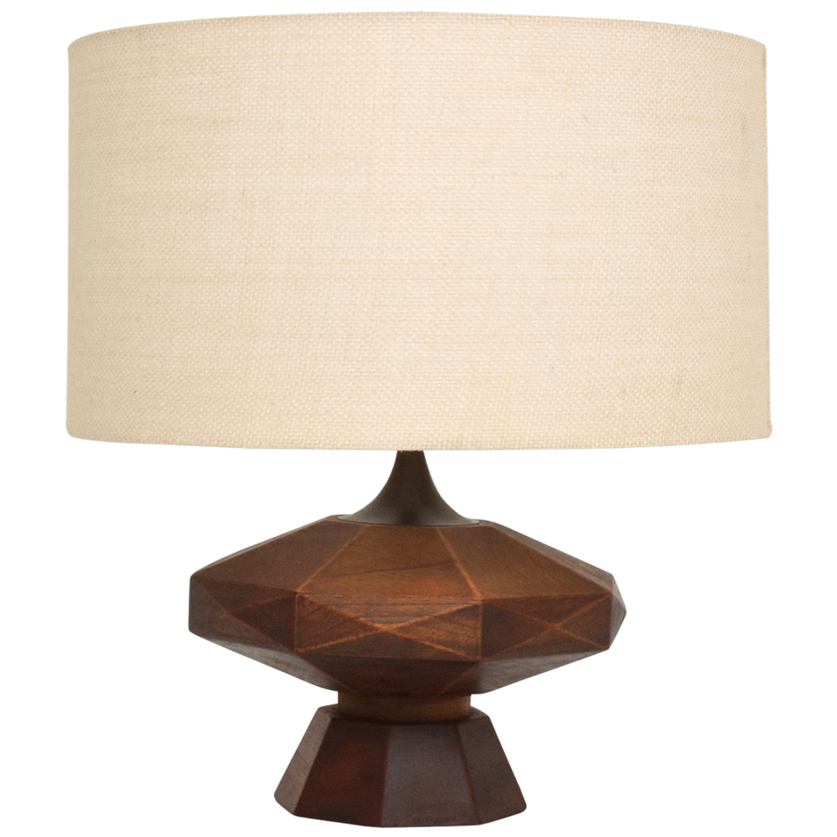 Mexican Mahogany And Brass Table Lamp Brass Table Lamps Mid  # Muebles Gil Alburquerque