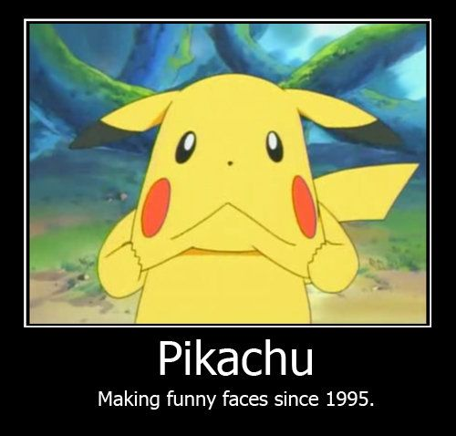 funny faces art pikachu