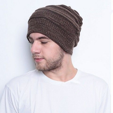 d50ce77e3c38c9 Mens beanie hats knit patterns double warm winter hats | Style I DON ...