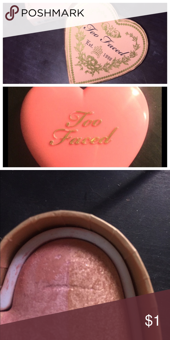 TRADING 2 too faced blushes See original postings for more details- BEING TRADED Too Faced Makeup Blush