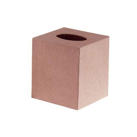 """Paper-Mache Tissue Box-5/""""X5/"""" Set Of 6"""