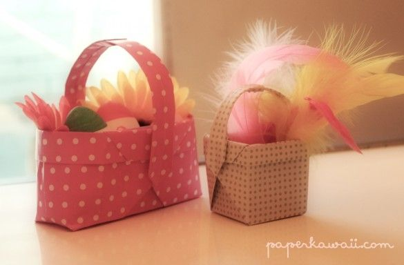Origami easter basket video tutorial origami easter baskets and origami easter basket video tutorial negle Gallery