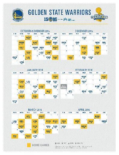 15 16 warrior schedule sf9ers warriors sfgiants pinterest