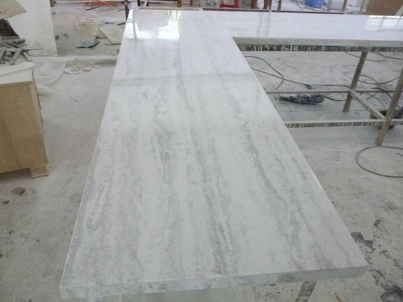 Absolute White Cultured Quartz Quartzite Countertops Stone