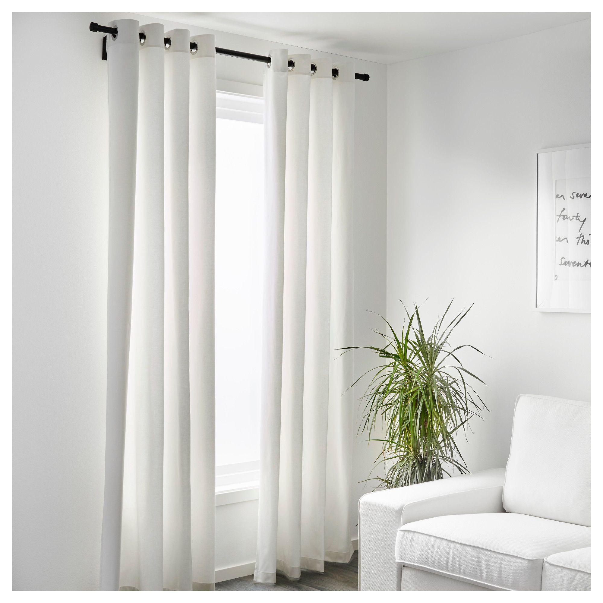 Ikea Merete Room Darkening Curtains 1 Pair Bleached