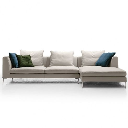 Reflex Modern White Leather Corner Sofa