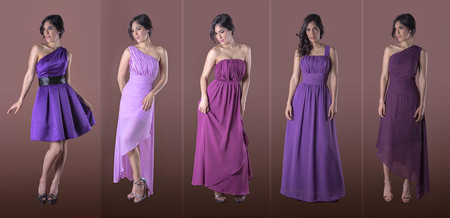 Hermosa Rubor Vestidos De Dama De Colores Ideas Ornamento ...