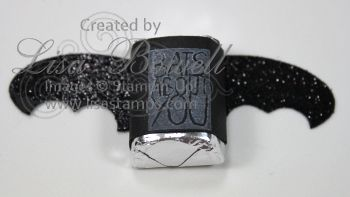 This is a cute little bat that was made using Stampin' Up! Halloween Hello. You could give this out for trick-or-treaters, teachers, friends, students etc. The possibilities are endless. Swing by my blog to see the list of products used :) Made by Lisa Bowell-Stampin' Up! Demonstrator @ lisastamps.com