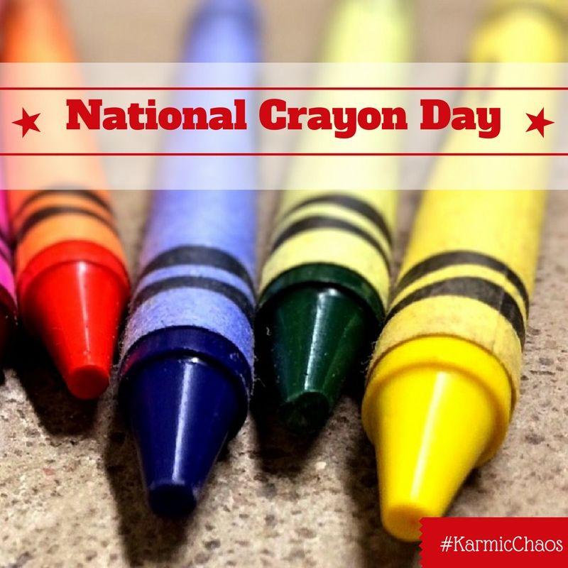 National Crayon Day Crafts Crayon days, Shape coloring