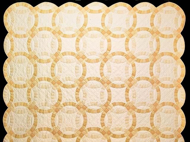 Amish Wedding Ring Quilt Double Wedding Ring Quilt A great quilt