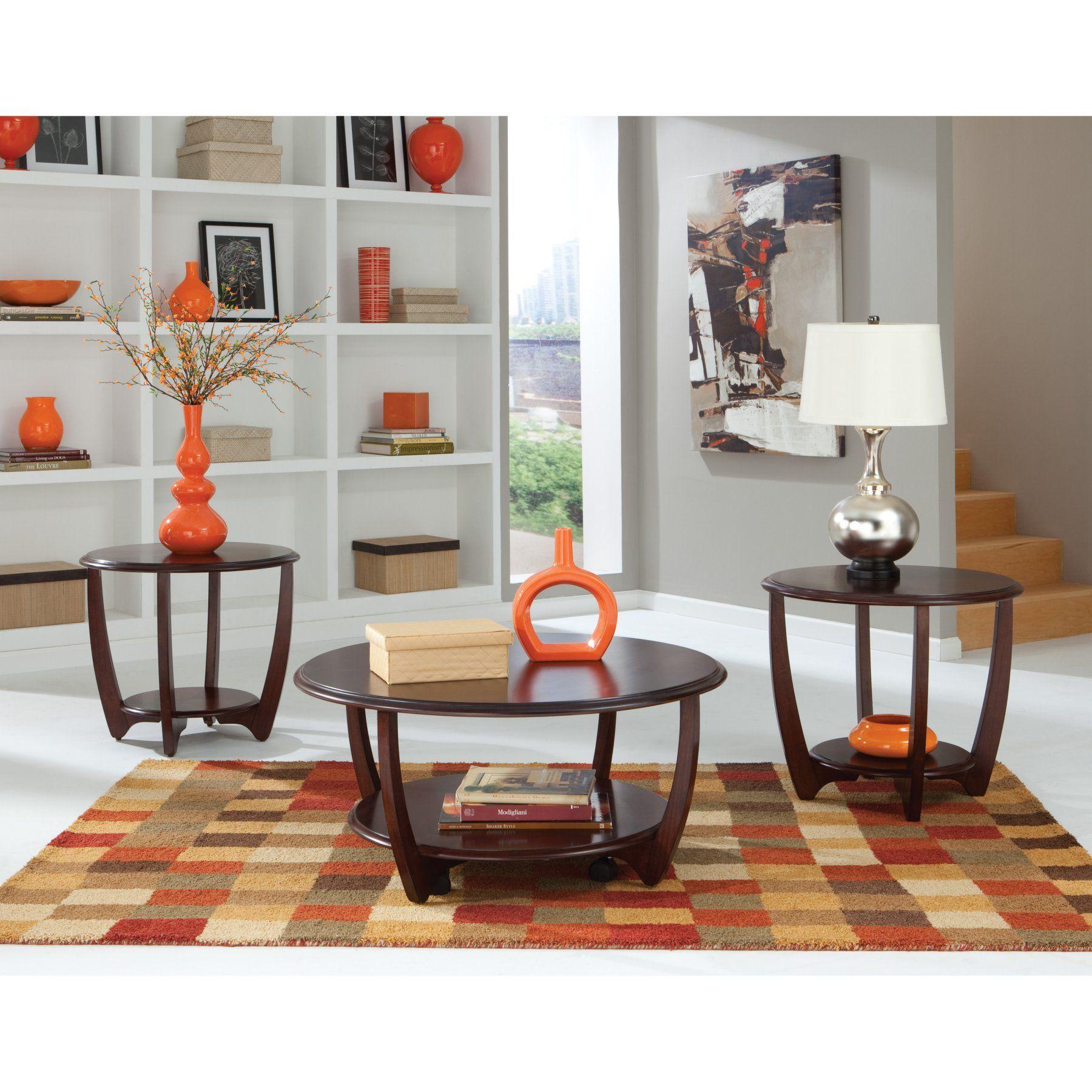 Best Standard Furniture Seattle Ii Round Dark Cherry Wood 3 400 x 300
