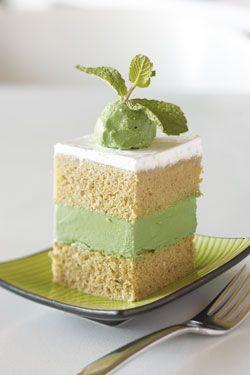 green tea dessert green tea ice cream cake at asian mint the