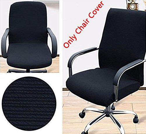 Trycooling Modern Simplism Style Chair Covers Cotton Office Computer Stretchable Rotating Chair Cover Large Arm Chair Covers Slipcovers For Chairs Chair Cover