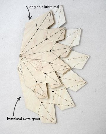 crystal template xl cool paper things templates origami et diy