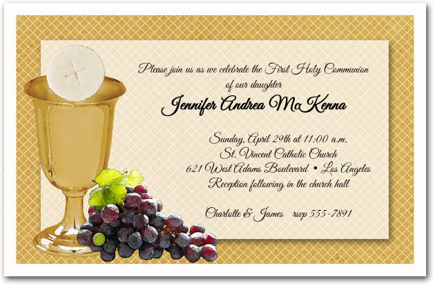 Exclusive First Communion Invitations from Announcingit - invitation templates holy communion