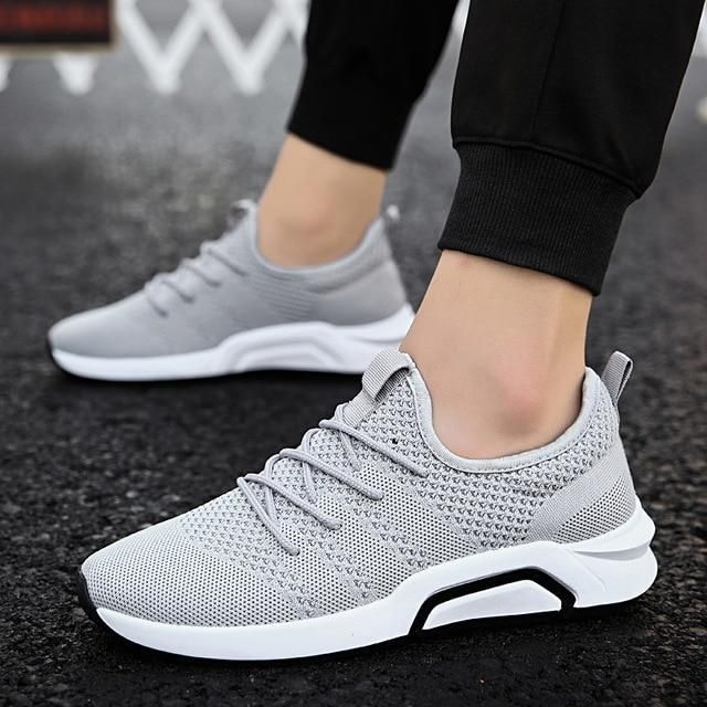 competitive price 17d26 da7fc 2018 New Men Sports Sneakers Gym Trail Running Lightweight Shoes Mesh  Breathable For Adult Walking Jogging Athletic Cheap Summer